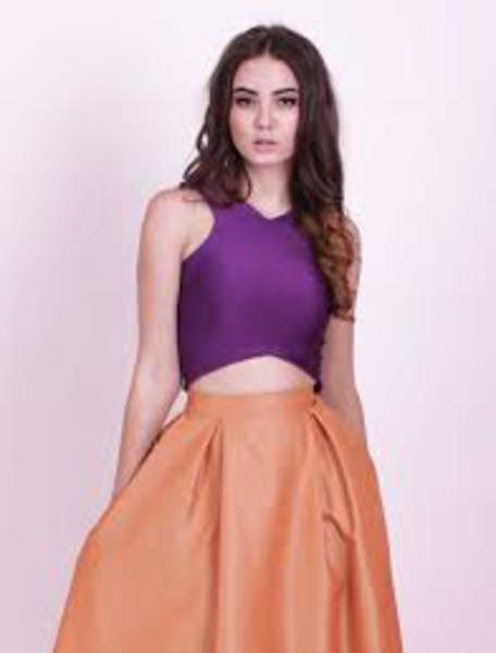 Orange skirt | Hauterent