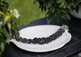 Necklace Stardust Black Braid | Hauterent