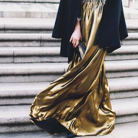 Liquid gold skirt | Hauterent