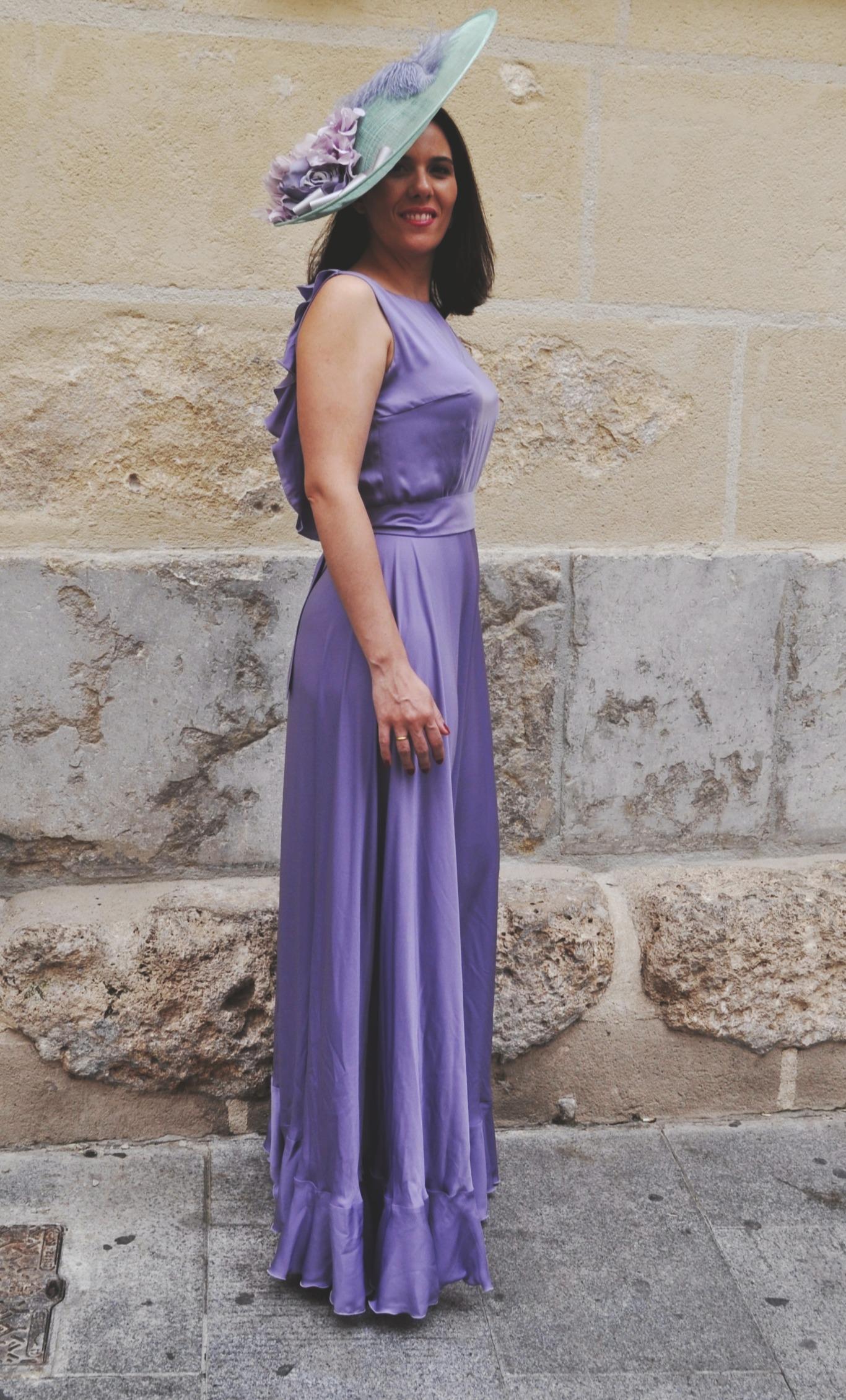 Vestido Largo Lavanda